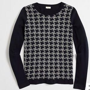 J. Crew •  Houndstooth Crewnecks Sweater